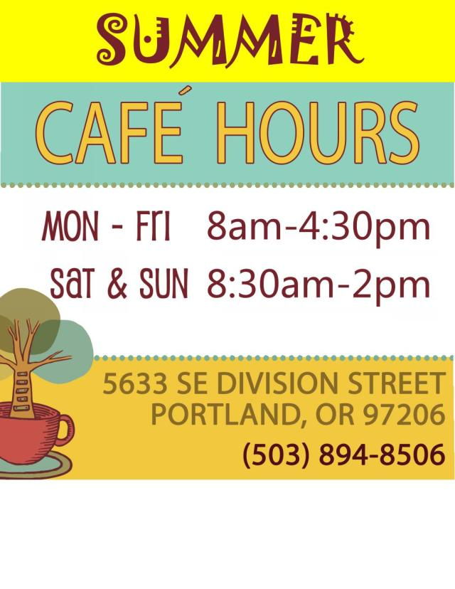 CAP Summer Hours Sign 2015